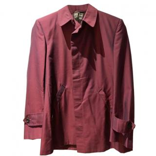 Henry Poole Men's Burgundy Tailored Jacket