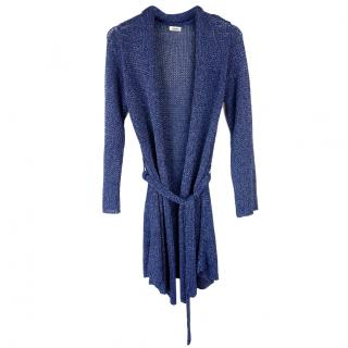 L'Agence Metallic Knit Cardigan