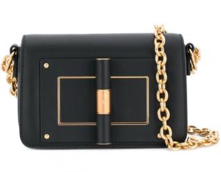 Tom Ford Black & Gold Natalia Shoulder Bag