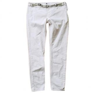 LiuJo White Belted Jeans