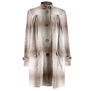 Burberry Alpaca & Wool Oversized Coat