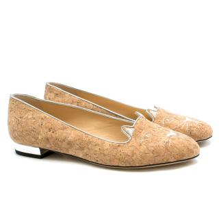 Charlotte Olympia Kitty Cork Loafers
