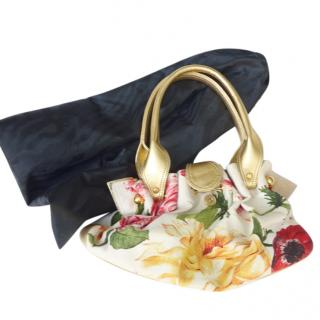 Roberto Cavalli Floral Printed Bag