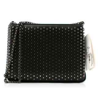 Christian Louboutin Triloubi Studded Leather Shoulder Bag