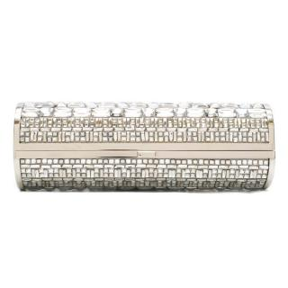 Jimmy Choo Crystal Embellished Tube Clutch Bag