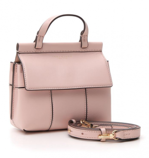 Tory Burch Block-T Satchel Bag in Shell Pink