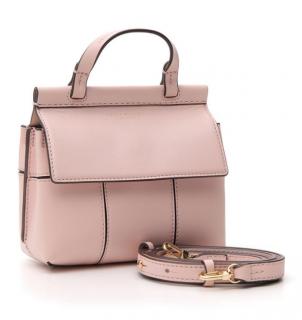 Tory Burch Block-T Satchel Bag in Shell Pink