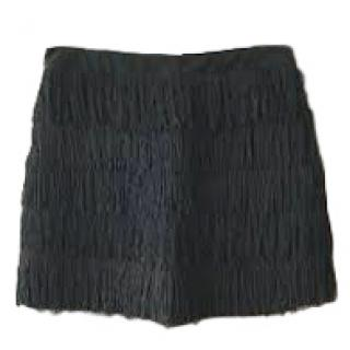 See by Chloe Tiered Fringed Mini Skirt