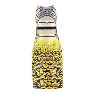 Mary Katrantzou Cupola Arch Print Sheer Panel Dress