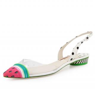 Sophia Webster White Bibi Watermelon Flats