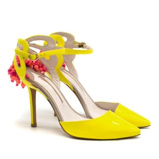 Sophia Webster Amina Patent Leather Beaded Pumps
