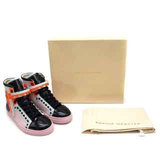 Sophia Webster Riko High-top Glitter Sneaker