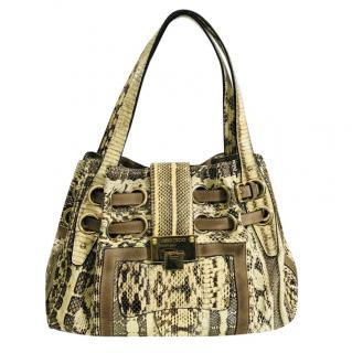 Jimmy Choo Python Tote Bag