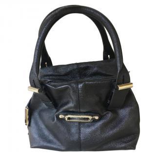 Jimmy Choo Black Leather Tote Bag