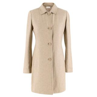 Colombo Beige Cashmere Buttoned Lightweight Coat