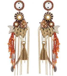 Deepa Gurnani Handmade Embellished Chandelier Earrings