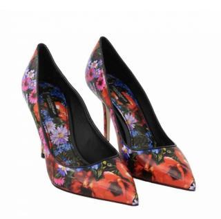 Dolce & Gabbana Floral Print Pumps