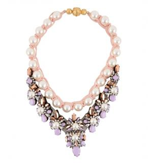 Shourouk faux pearl & crystal embellished necklace