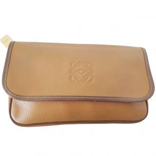Loewe Beige Classic Leather Clutch