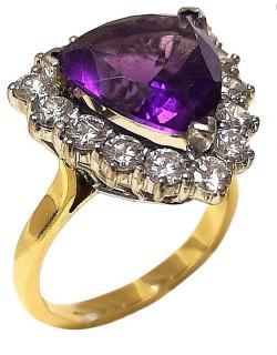 Bespoke Siberion Amethyst & Diamond cluster ring