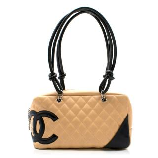 Chanel Beige & Black Cambon Bag