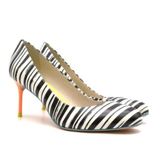 Sophia Webster Zebra Print Multicoloured Leather Pumps