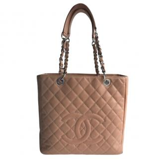 Chanel Salmon Pink Caviar Leather GST