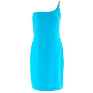 Moschino Swim Blue One Shoulder Dress