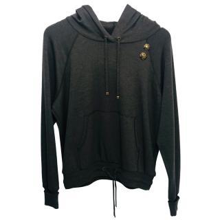 Louis Vuitton Khaki fine knit hoodie