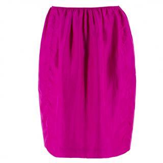 Lanvin Silk Pink Lightweight Skirt