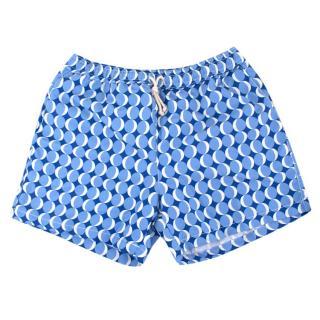 Ripa & Ripa Blue Milano Circle Print Swim Shorts
