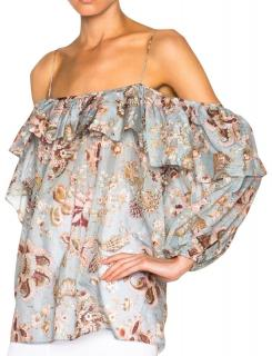 Zimmermann Pavilion off-the-shoulder top