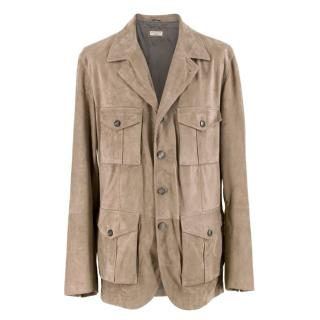 Brunello Cucinelli Men's Suede Jacket