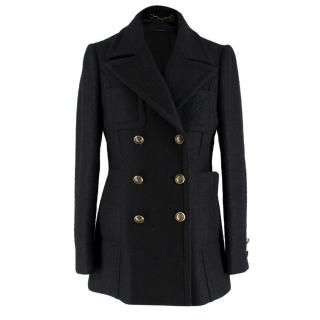 Gucci Black Alpaca and Wool Blend Coat