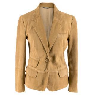 Dolce & Gabbana Brown Suede Jacket