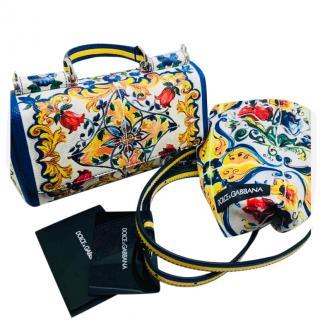Dolce & Gabbana Maiolica Print Miss Sicily Bag