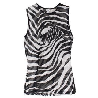 Dolce& Gabbana Intimo Zebra Printed Top