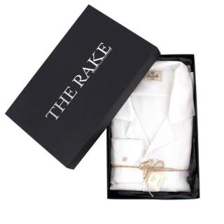 Santillo Radici Men's Handmade White Shirt