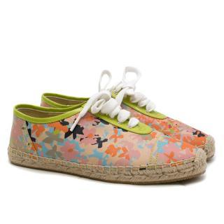 Jimmy Choo Floral Espadrille Sneakers