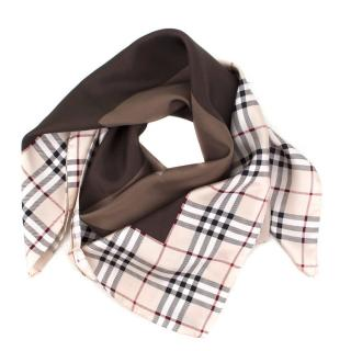 Burberry Monogram Silk Scarf