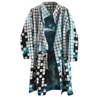 Issey Miyake Tie-Dye Cubed Coat