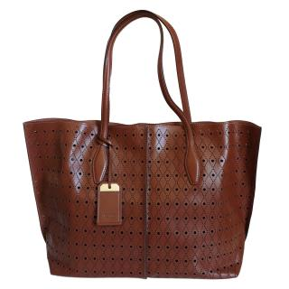 Tod's Brown Joy Leather Tote Bag