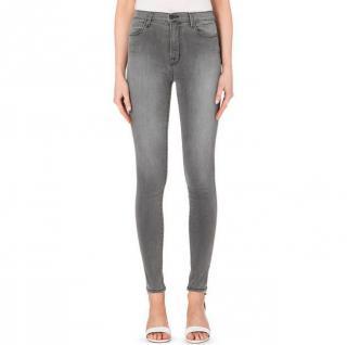 J Brand Onyx Mid-rise Super Skinny Jeans