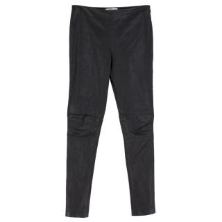 Balenciaga Black Leather Trousers