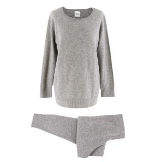 Madeleine Thompson Grey Cashmere Top & Joggers