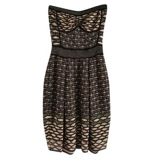Missoni Strapless Metallic Knit Dres