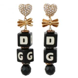 Dolce & Gabbana Logo Dice Pendant Drop Necklace