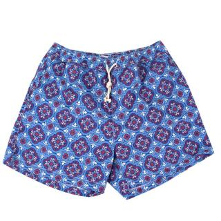 Ripa & Ripa Blue Printed Swim Shorts
