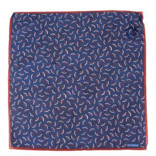 Officina Slowear Clutch Printed Silk Cotton Handkerchief
