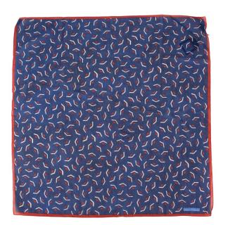 Officina Slowear Clutch Printed Silk Cotton Handkerchief
